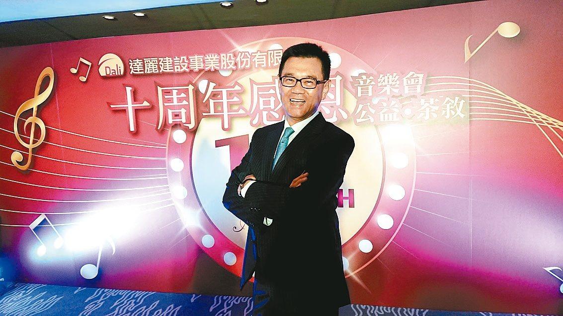 達麗建設董事長謝志長。 記者陳美玲/攝影