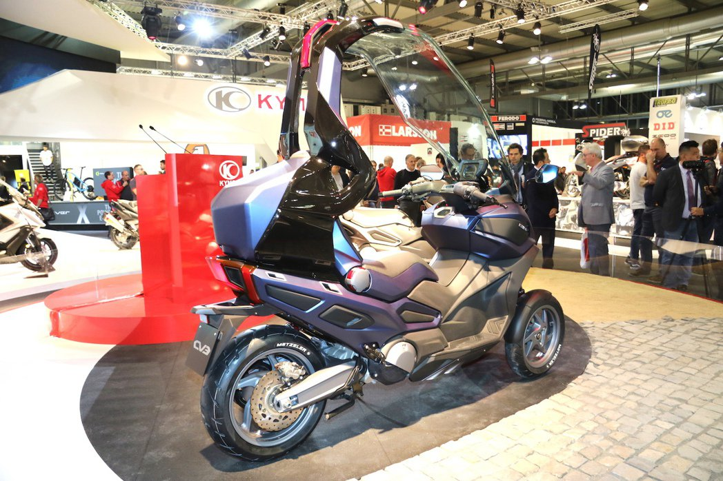 KYMCO C Series Concept雙概念車三輪版CV3。 記者史榮恩/攝影