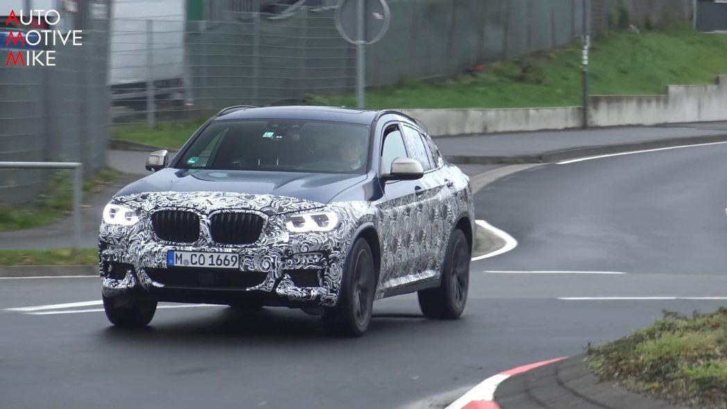 摘自BMW X4試車影片