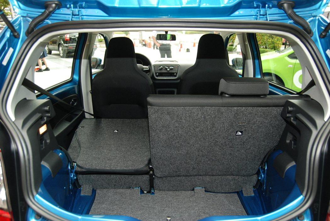 Škoda Citigo 後座設有6/4分離傾倒裝置,可提供251-959公升的置物空間。 記者林鼎智/攝影