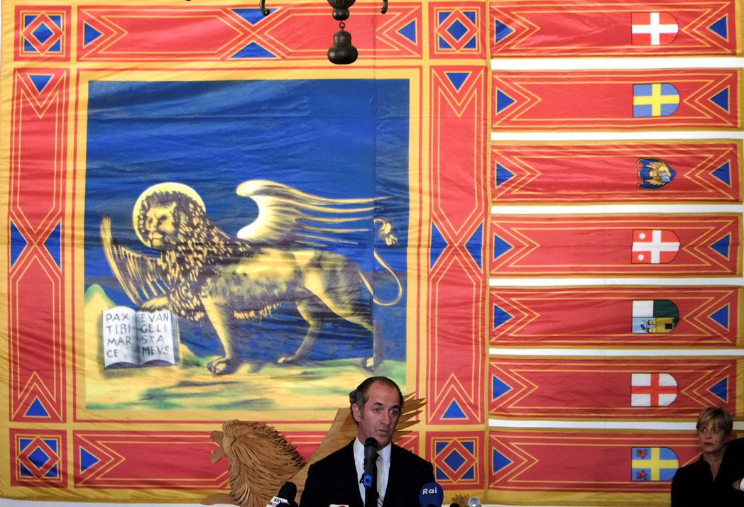局勢不會劇烈變化,但此次公投開啟了義大利政治的潘朵拉盒子。圖為北方聯盟威尼托區的...