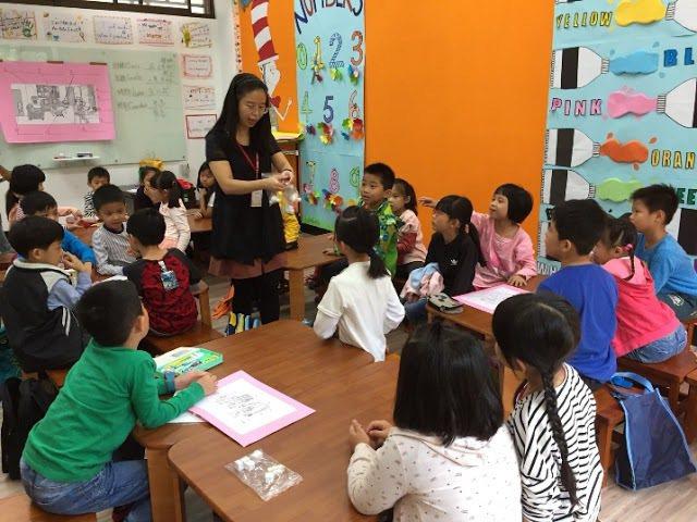 大葉大學英語學系4日在校內舉辦「扶英計畫」活動。 大葉大學/提供。
