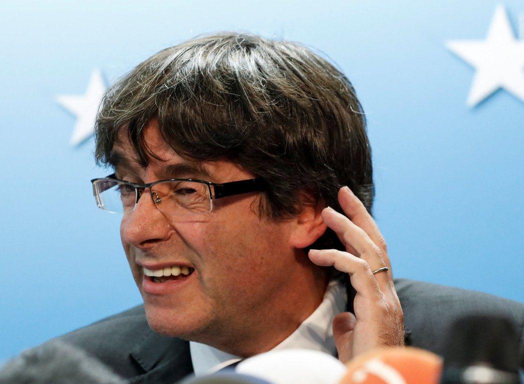 加泰隆尼亞領導人普吉德蒙逼迫歐盟表態,但歐盟卻無言以對。 圖/路透社