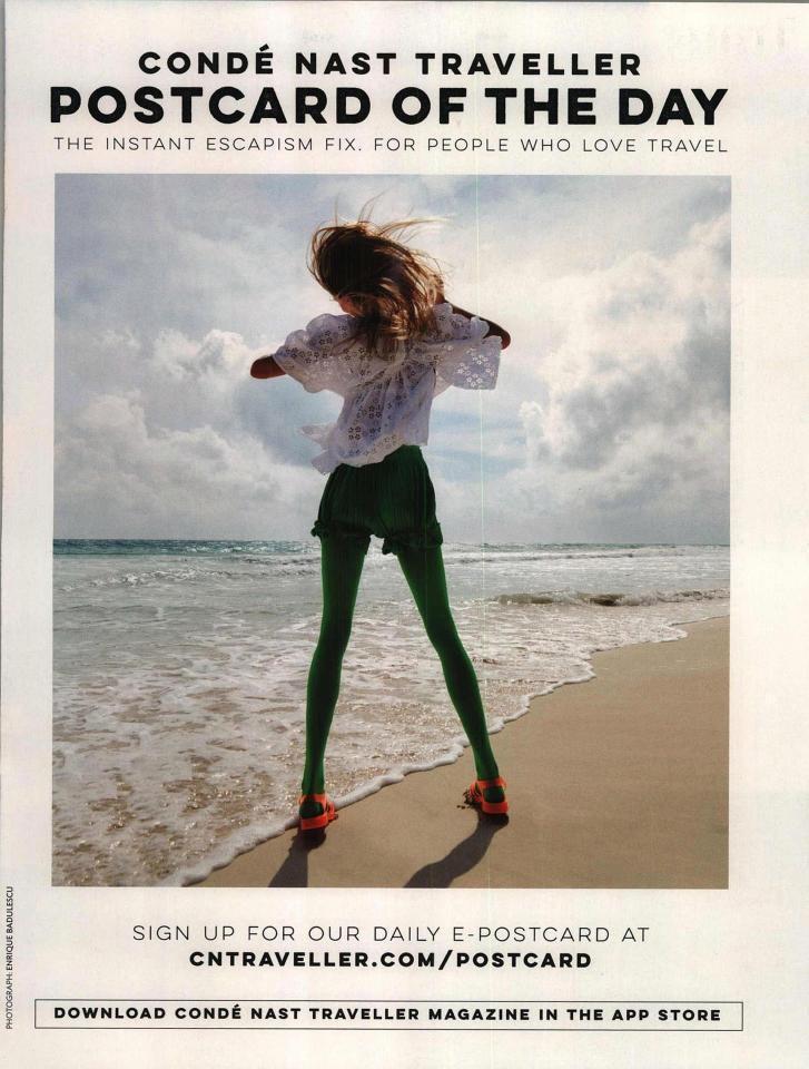 《旅遊者雜誌 Condé Nast Traveller》廣告遭禁。圖/擷自the...