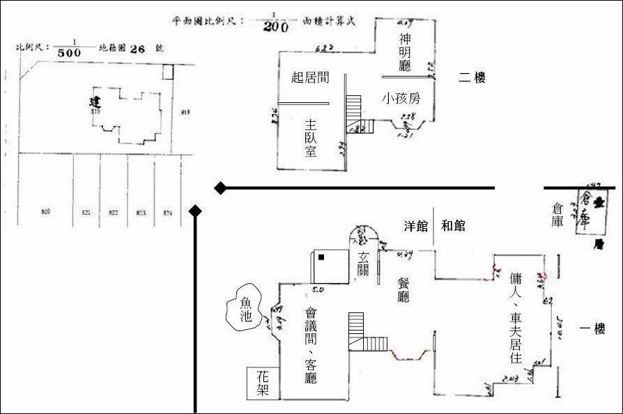 陳茂通宅平面圖。 圖/作者提供
