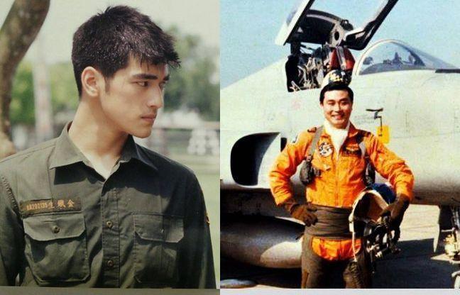 馮世寬帥過金城武?右圖為馮世寬年輕時任F-5E戰機飛行員的照片。 本報系資料照