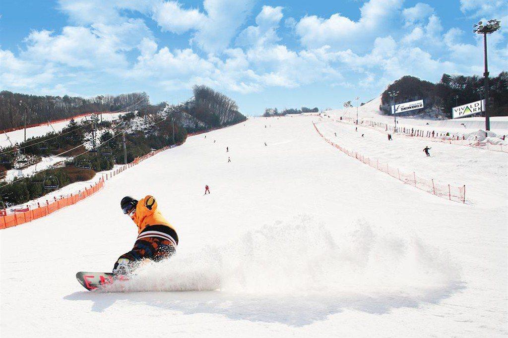 韓國滑雪推薦-洪川大明滑雪場|圖片來源:Tripbaa趣吧!達人帶路