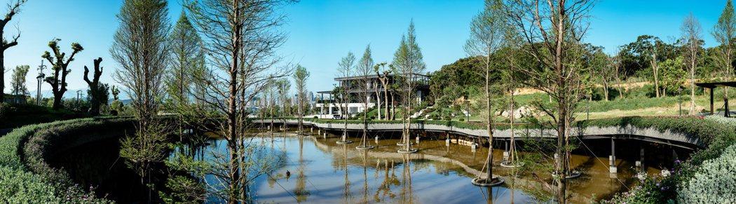誠宜建設2017年度力作「壹山」一期即將動土,已先完成社區綠美化作業。誠宜/提供