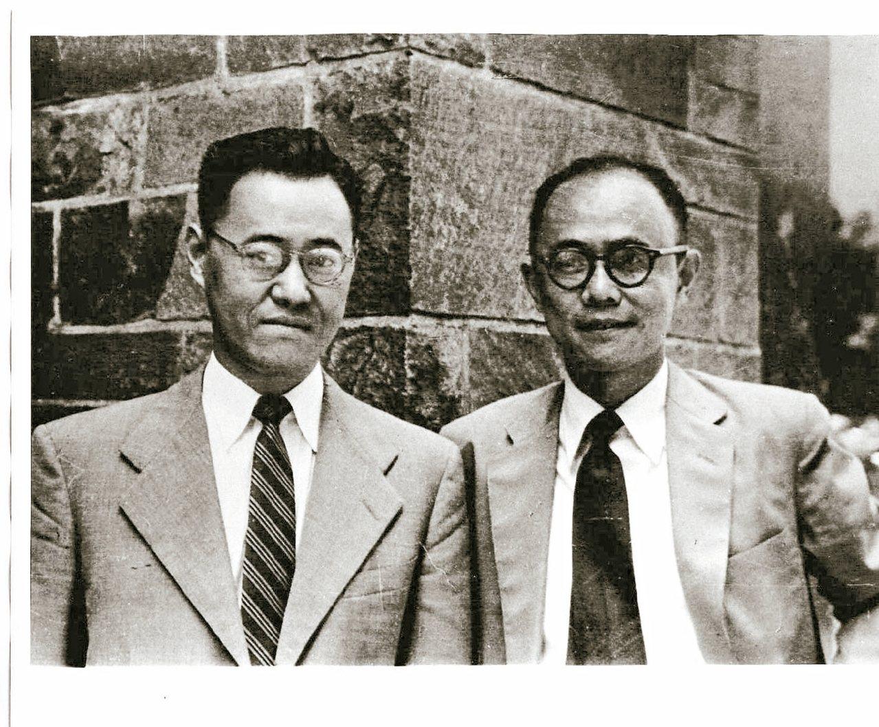 夏濟安(右)、夏志清兩兄弟。 圖/本報資料照片