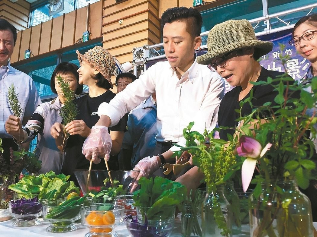 新竹市食物森林食材,能製作有機香草蔬果飲和植物沙拉。 圖/本報資料照片