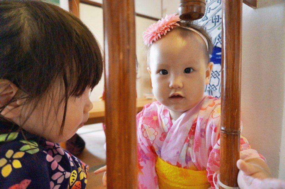 連不到一歲的寶寶也有浴衣可以穿。(攝影/林郁姍)