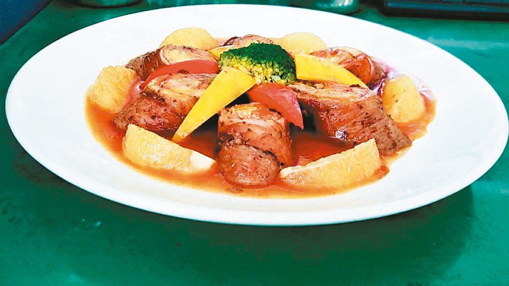 香橙豬肉捲 照片/日新工商餐旅系提供