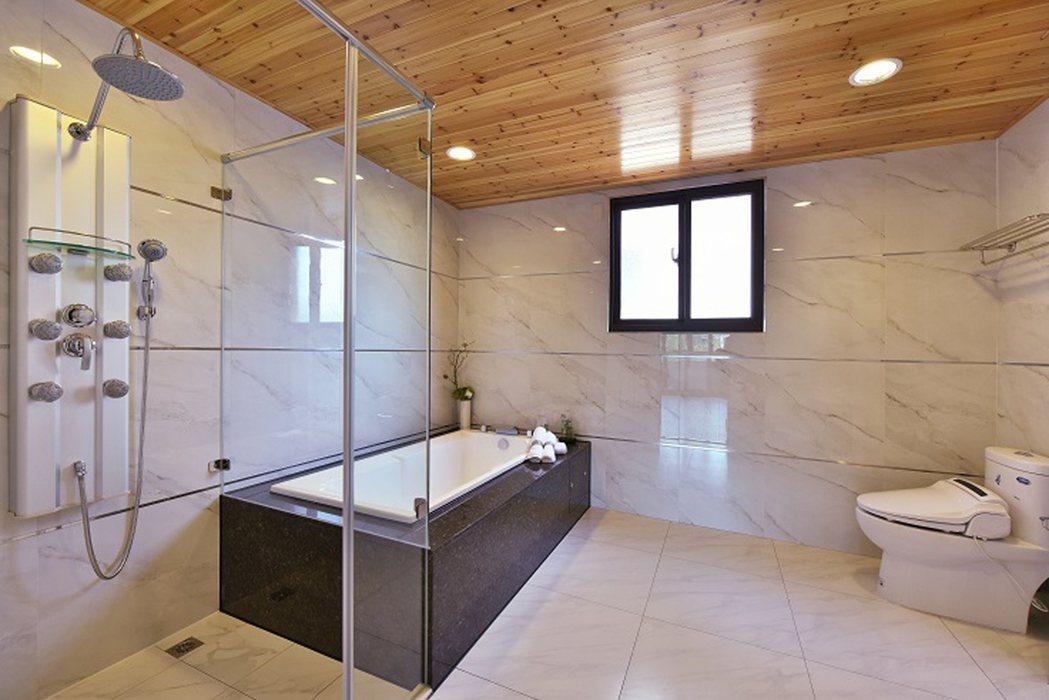 幸福森活主臥室豪華衛浴設備。 圖片提供/金圓建設