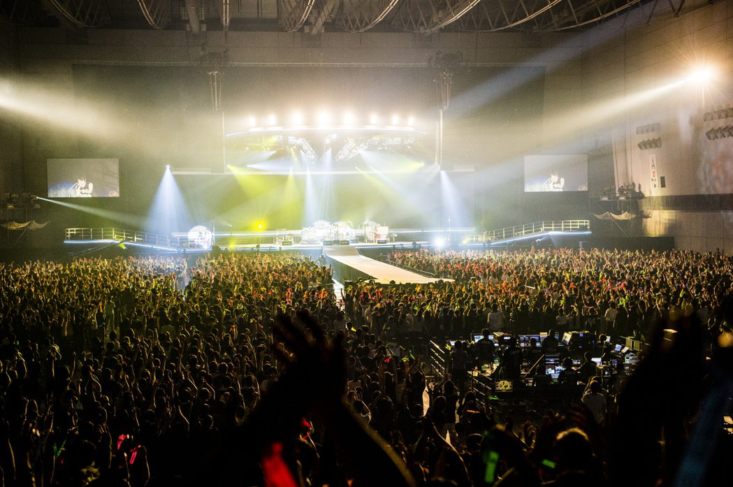 GLAY在橫濱的演出盛況。圖/相信音樂提供