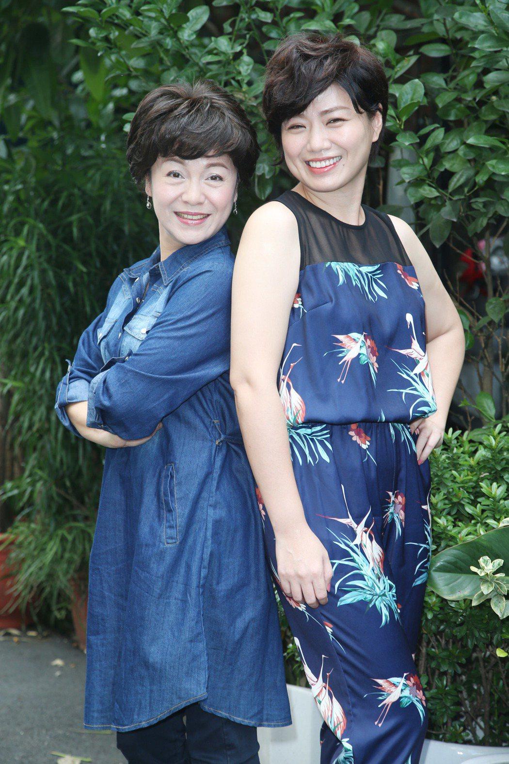 潘麗麗(左)與嚴藝文在「城市情歌」中演母女。記者陳瑞源/攝影