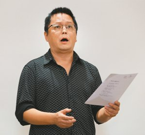楊小濱。 圖/本報記者陳柏亨攝影