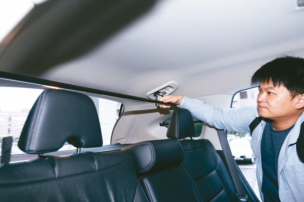 休旅車只要在後車廂加裝可拆卸橫桿,即可適用貨車的低貨物稅。圖為有車廂橫桿的客貨兩...