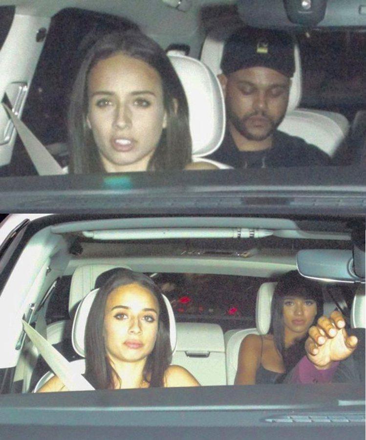 威肯同車女性被起底為小賈斯汀前女友Yovanna Ventura(下方右)圖/擷...