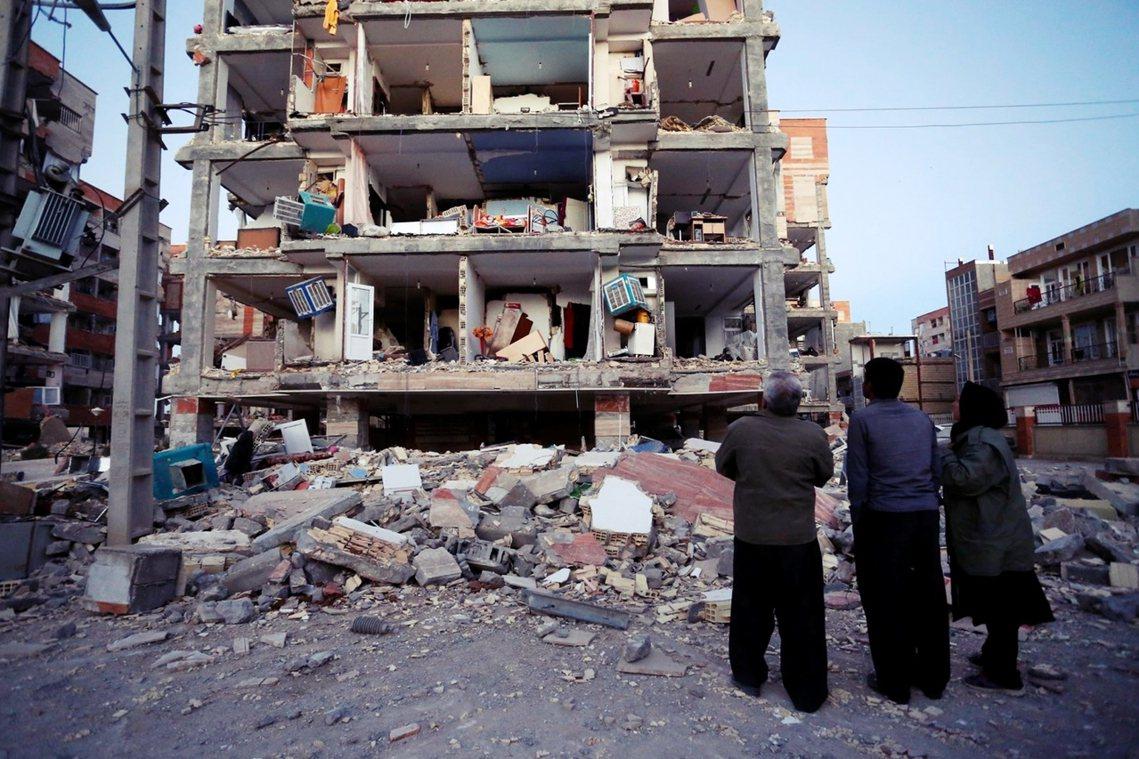 伊朗西境災情慘重。 圖/美聯社