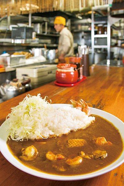 築地魚河岸 シーフードカレー(築地魚河岸海鮮咖哩)¥1000/楚蟹、鮮蝦、帆立貝...