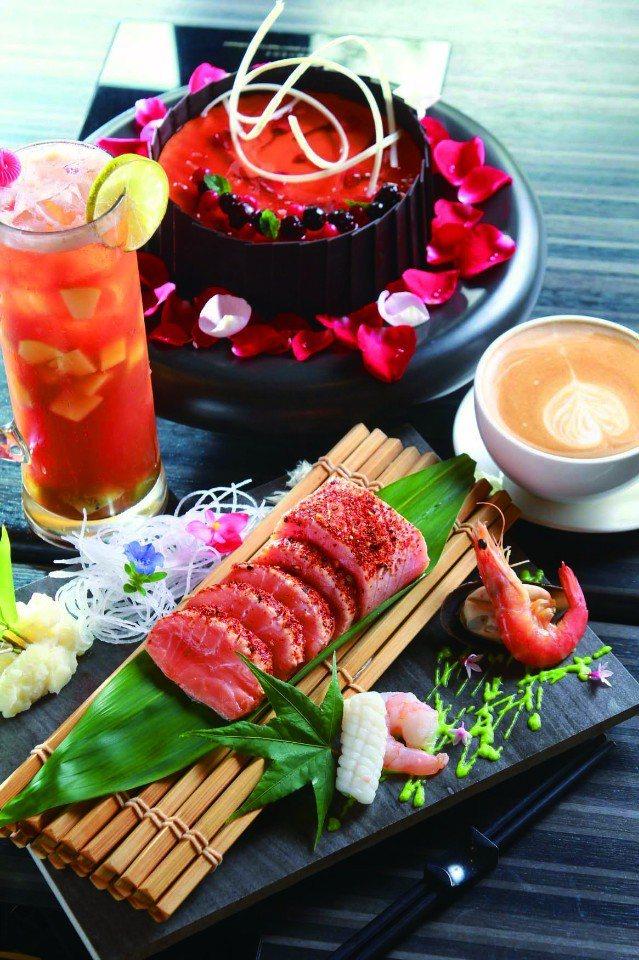 湯悅溫泉會館的新菜單強調在地與新鮮。(圖片提供/苗栗觀光協會)