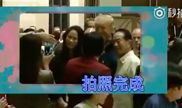 宋楚瑜帶著女兒宋鎮邁與川普合影的過程,被陸媒嘲諷。 圖/擷自影片