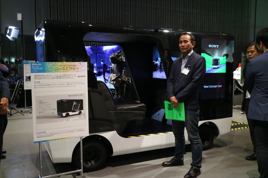 「未來概念車(New Concept Cart)」用四面高畫質液晶螢幕取代車窗,...