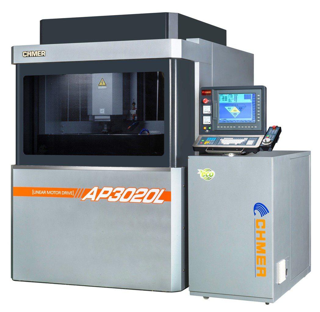 慶鴻AP3020L-超精密三軸線性馬達雕模放電加工機獲第26屆「台灣精品獎」,再...