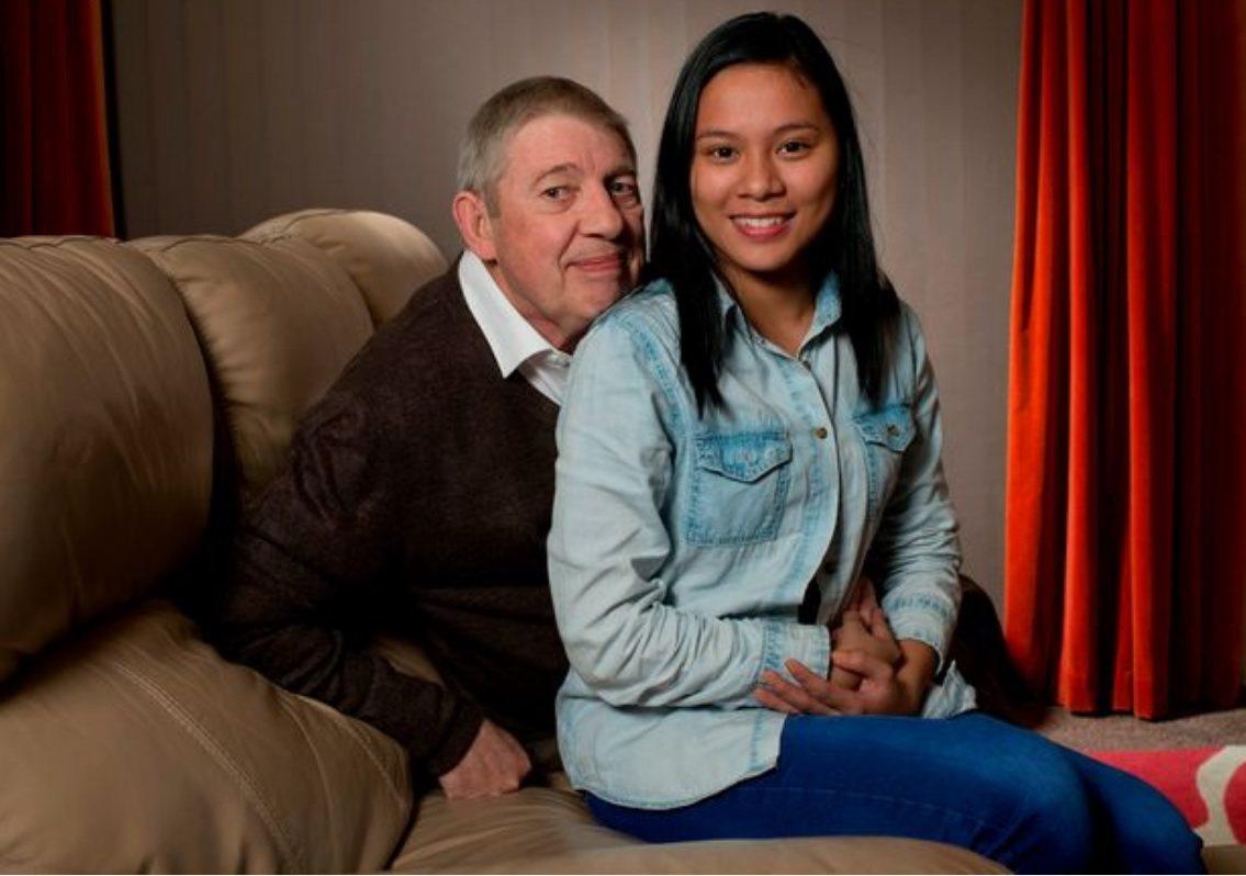 英國69歲的老翁謝帕德,原以為可以和28歲的女友拉列可結為連理,沒想到拉列可卻跑...