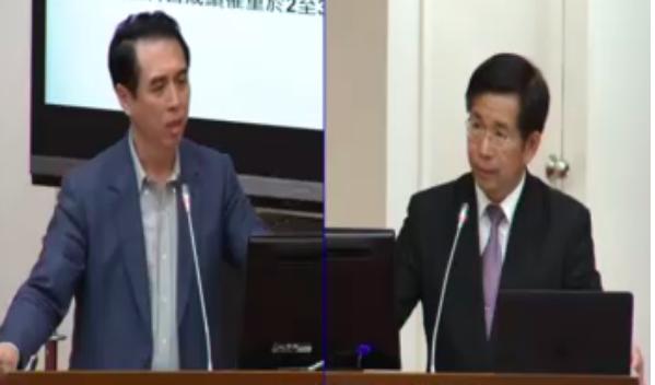 立法委員陳學聖在立院質詢教育部長潘文忠。攝影/黃偉翔(技職3.0)