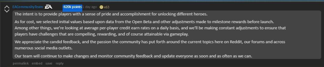 EA的官方回應被玩家們噓爆。