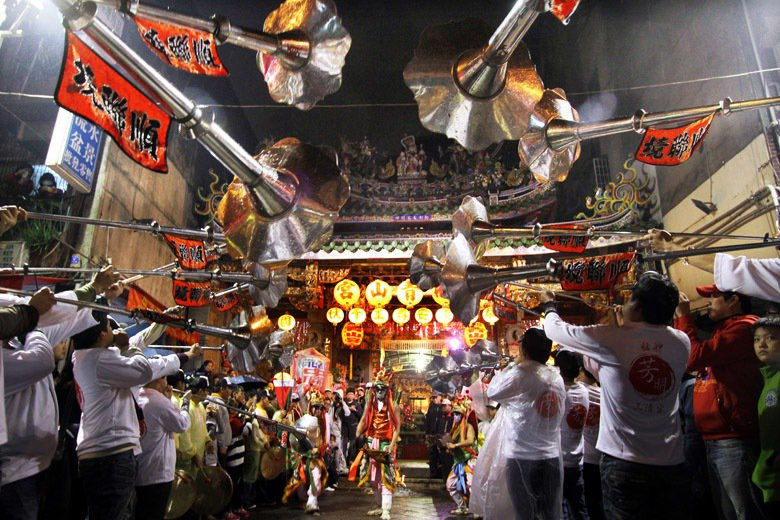 臺北市萬華區每年舊曆10月20日、21日舉辦暗訪,舊曆10月22日舉辦正日遶境。 圖/聯合報系資料照