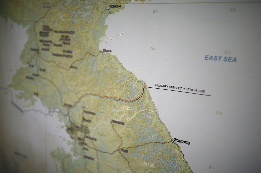寬約四公里的非軍事區分隔南北韓。 (路透)