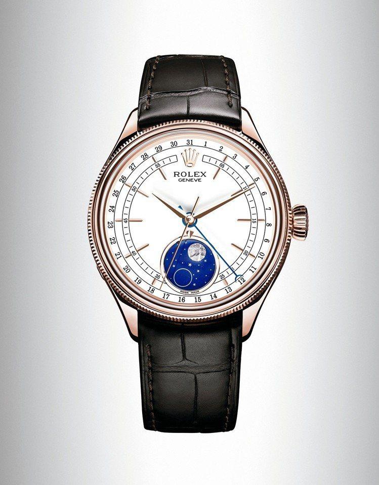 勞力士 Cellini Moonphase(徹利尼月相型 ) 腕錶 圖/勞力...
