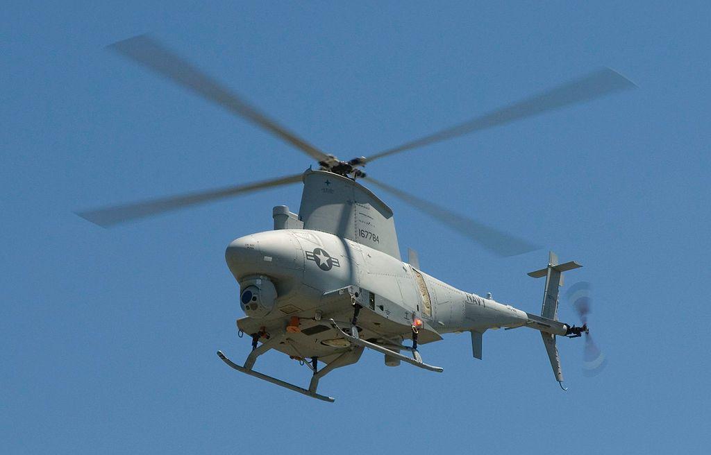 MQ-8「火力偵察兵」無人機是美國諾斯洛普·格魯曼公司研製的垂直起降無人機。圖擷...