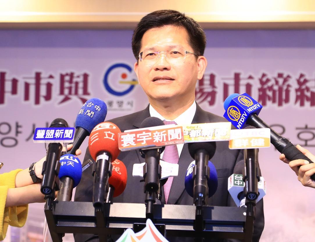台中市長林佳龍昨天表示,「空汙處理得好會贏得市民支持」。 圖/台中市新聞局提供