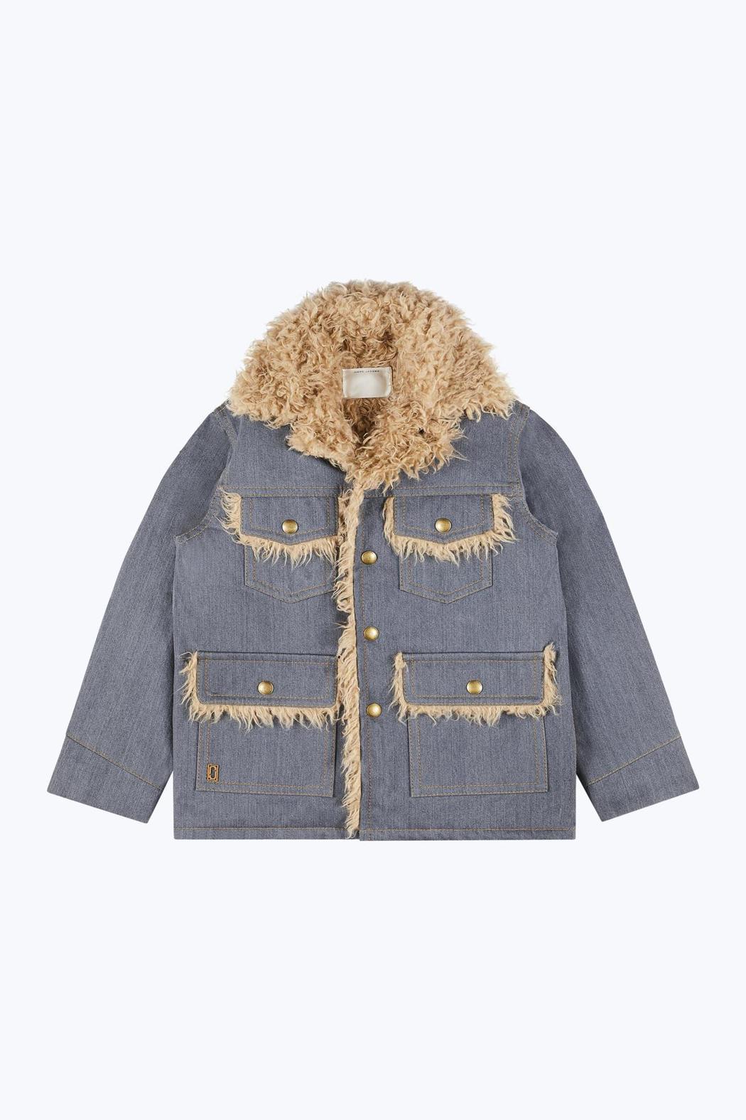 拼接羊毛丹寧外套,45,900元。圖/Marc Jacobs提供