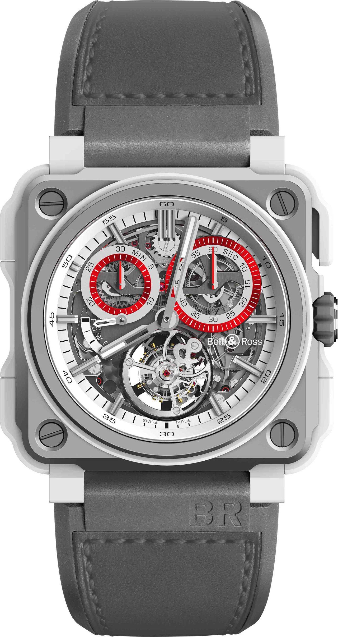 BR-X1 Tourbillon White-Hawk 鏤空陀飛輪計時碼表,限量...