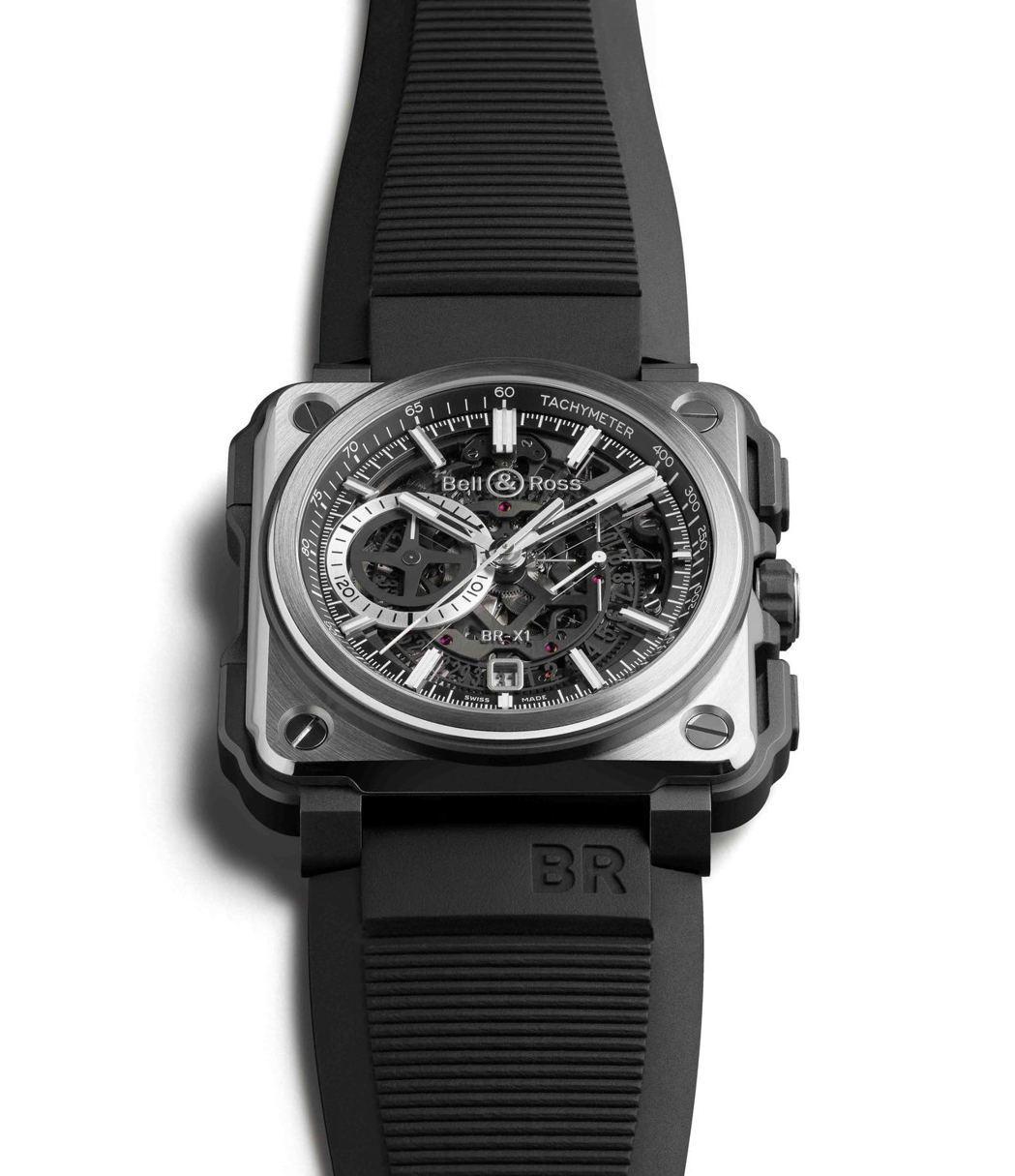 Bell & Ross BR-X1 Black Titanium鏤空計時碼表,限...