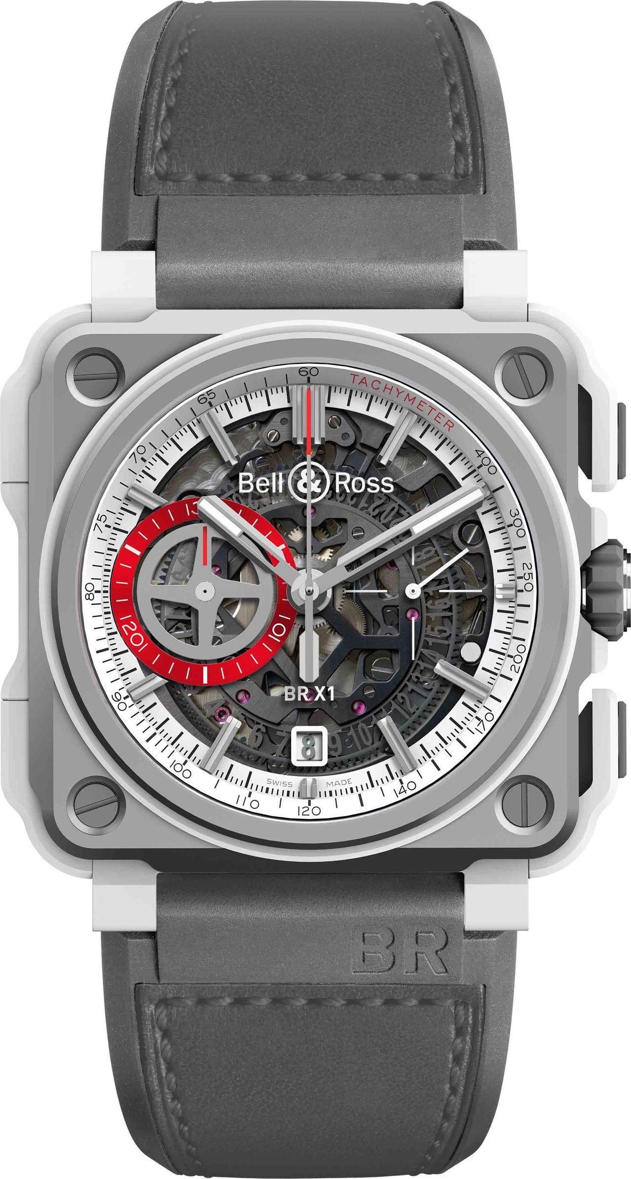 BR-X1 White Hawk鏤空計時碼表,限量250只,約66萬7,200元...