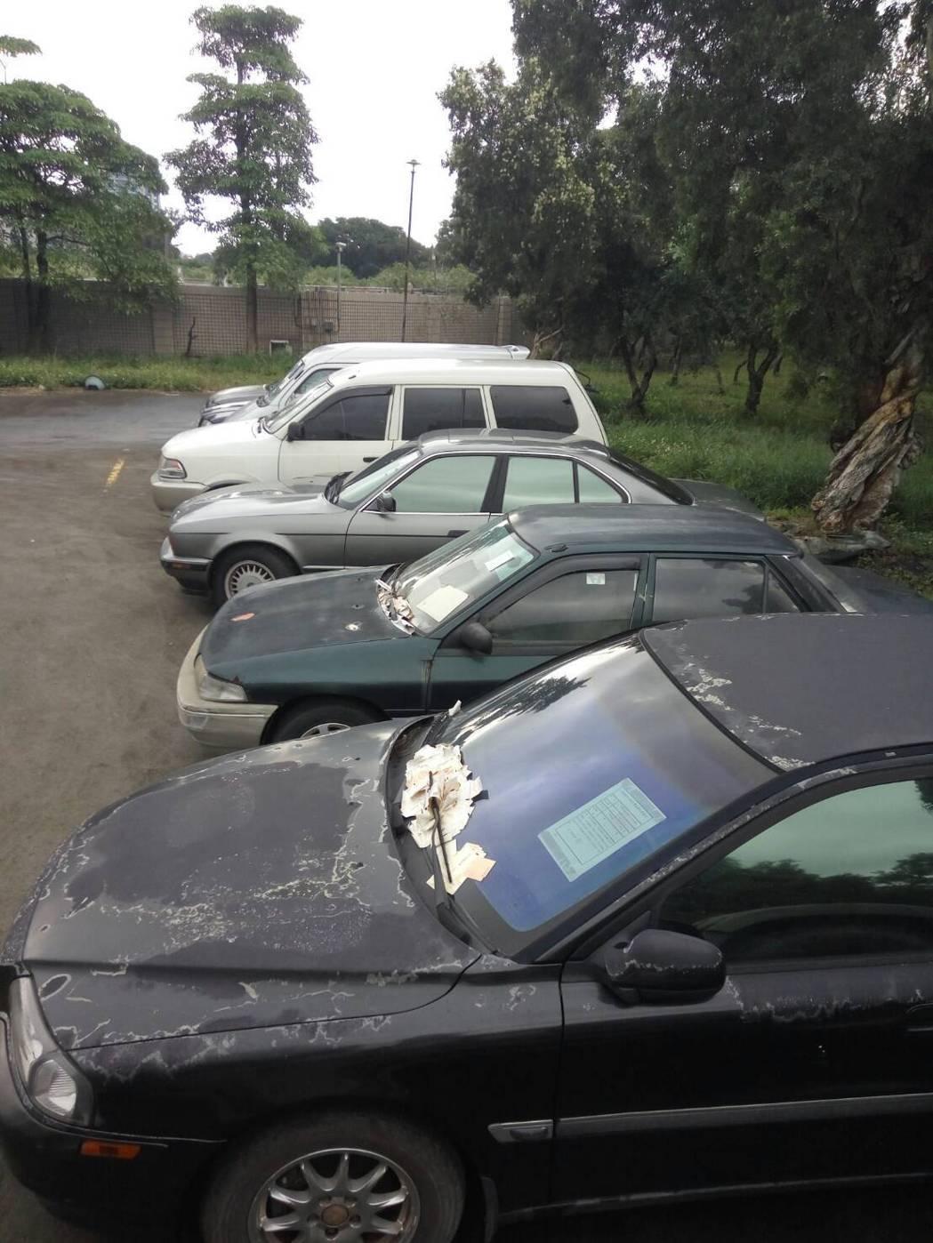 行政執行署桃園分署從上周起陸續查扣6輛欠費車輛,若再不繳費就會拍賣清償。圖/行政...