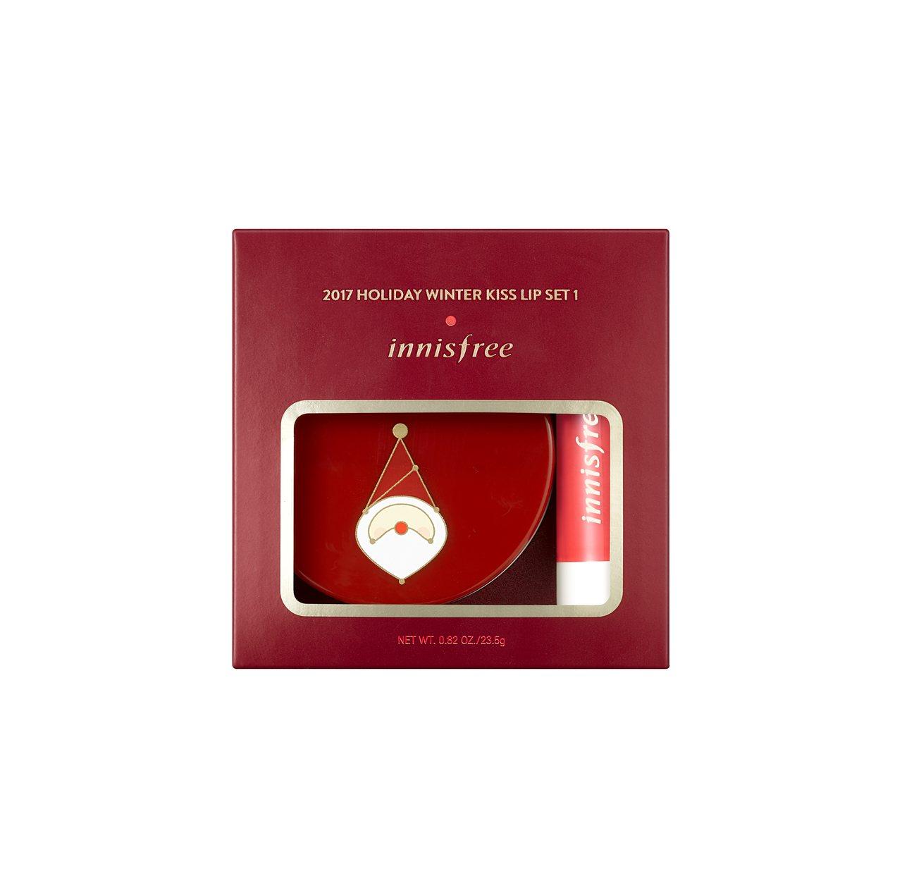 innisfree 2017綠色耶誕暖心之吻限量護唇組,售價600元。圖/inn...