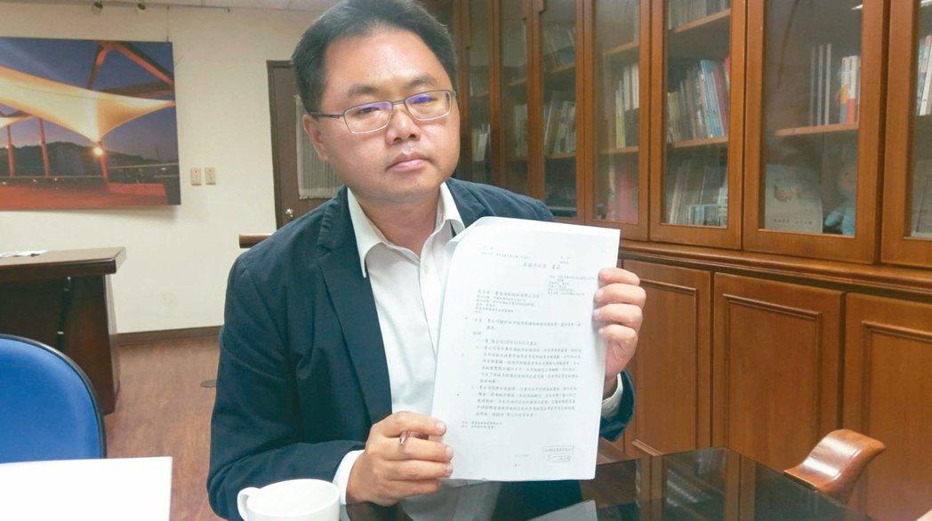 高市海洋局長王端仁被爆協助慶富取得造船廠用地,晚間請辭獲准。 本報資料照片