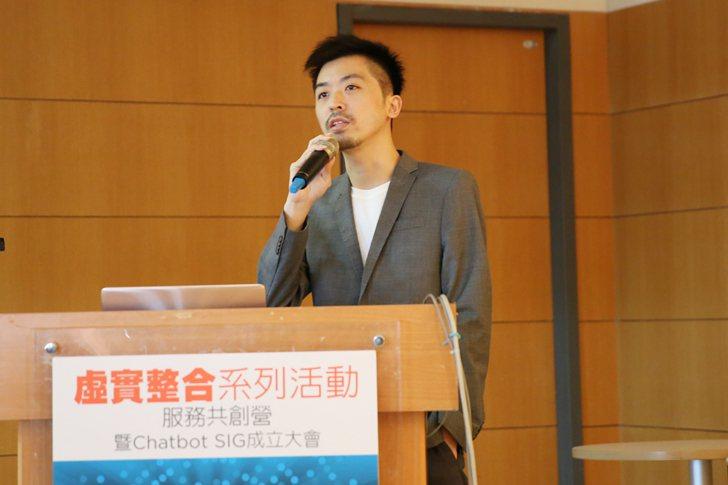 Chatisfy創辦人劉文翰剖析Chatbot如何顛覆社群行銷。 曹佳榮/攝影
