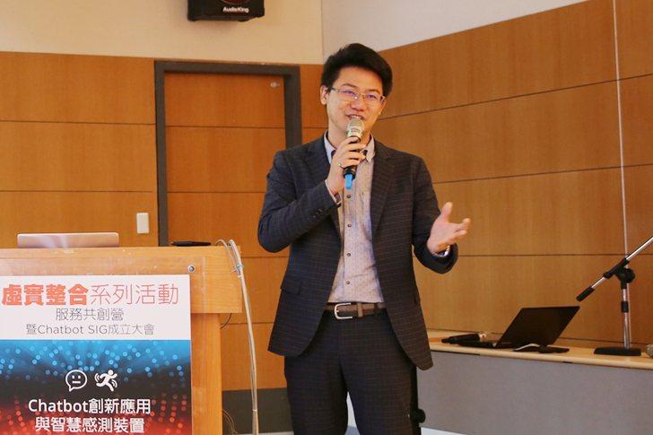 Botpartner創辦人林毅祥則談到Chatbot如何串聯IOT世界。  曹佳...