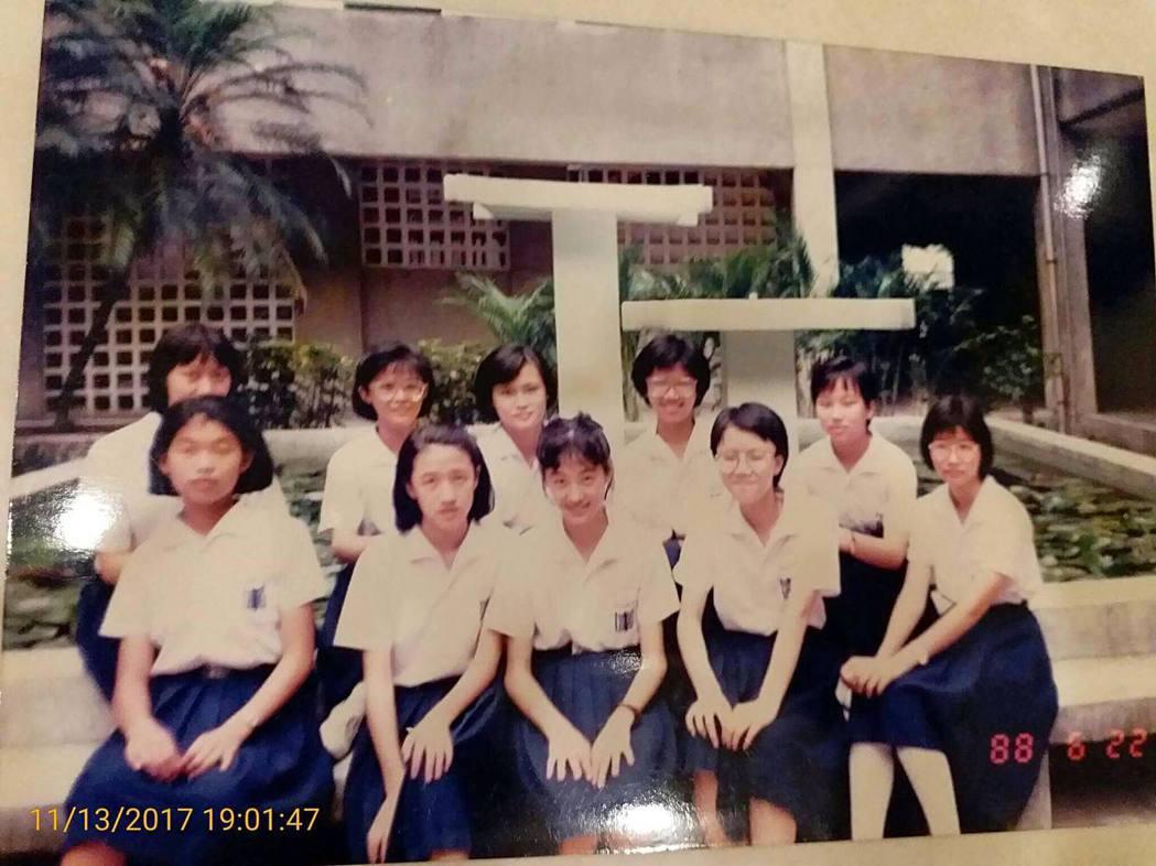 賈永婕分享國中時期的照片。 圖/擷自賈永婕臉書
