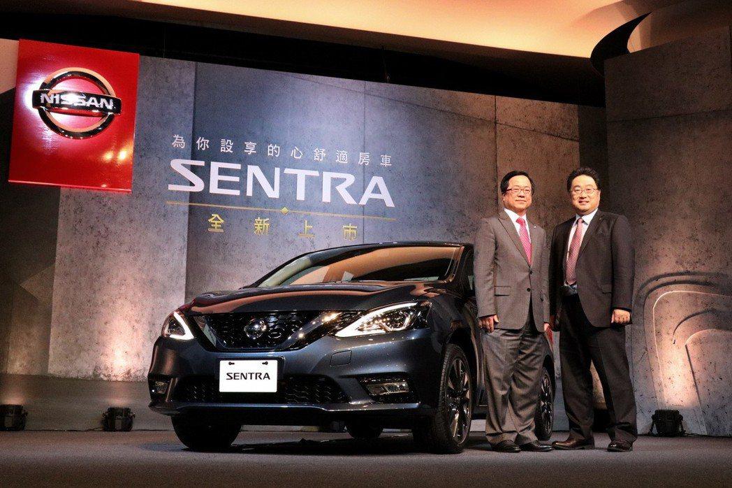 裕隆日產汽車推出全新改款心舒適房車NISSAN Sentra,超值價69.9萬元起。 記者陳威任/攝影
