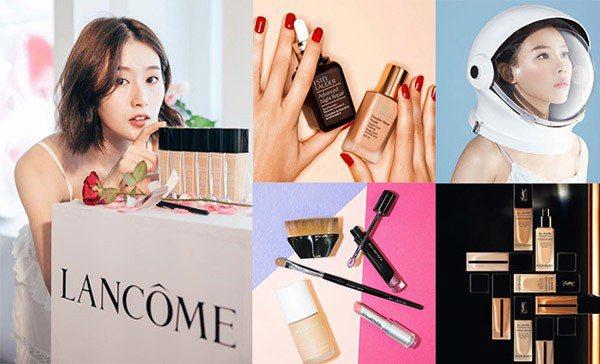 圖/朱綺綺粉絲團、植村秀、雅詩蘭黛、YSL,Beauty美人圈提供