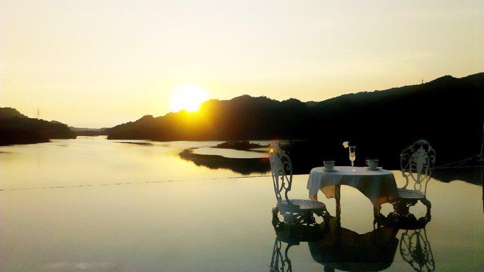 勻淨湖景觀餐廳。(圖/欣傳媒)