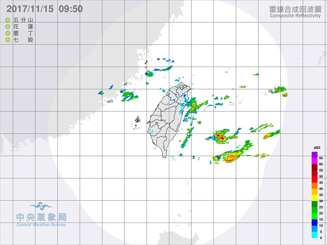 中央氣象局發布大雨特報,東北風影響,今天宜蘭地區有局部大雨發生的機率,山區請注意...